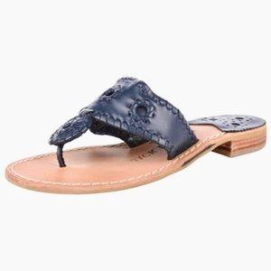 Jack Rogers Nantucket Hamptons navy sandals 8